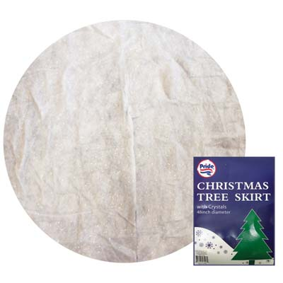 View PRIDE CHRISTMAS TREE SKIRT 48 INCH