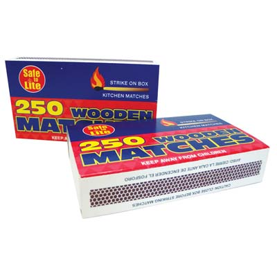 View SAFE TO LITE WOODEN KITCHEN MATCHES 2 PACK-250 COUNT