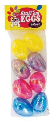 View EASTER EGG 8 PC 2.5 INCH ASSORTED METALLIC COLORS