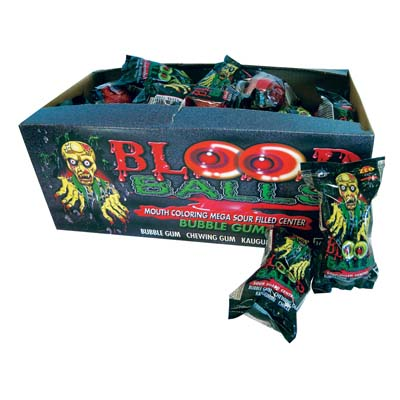 View BUBBLE GUM BALLS 2 PACK BLOOD BALLS SHAPE MADE IN IRELAND