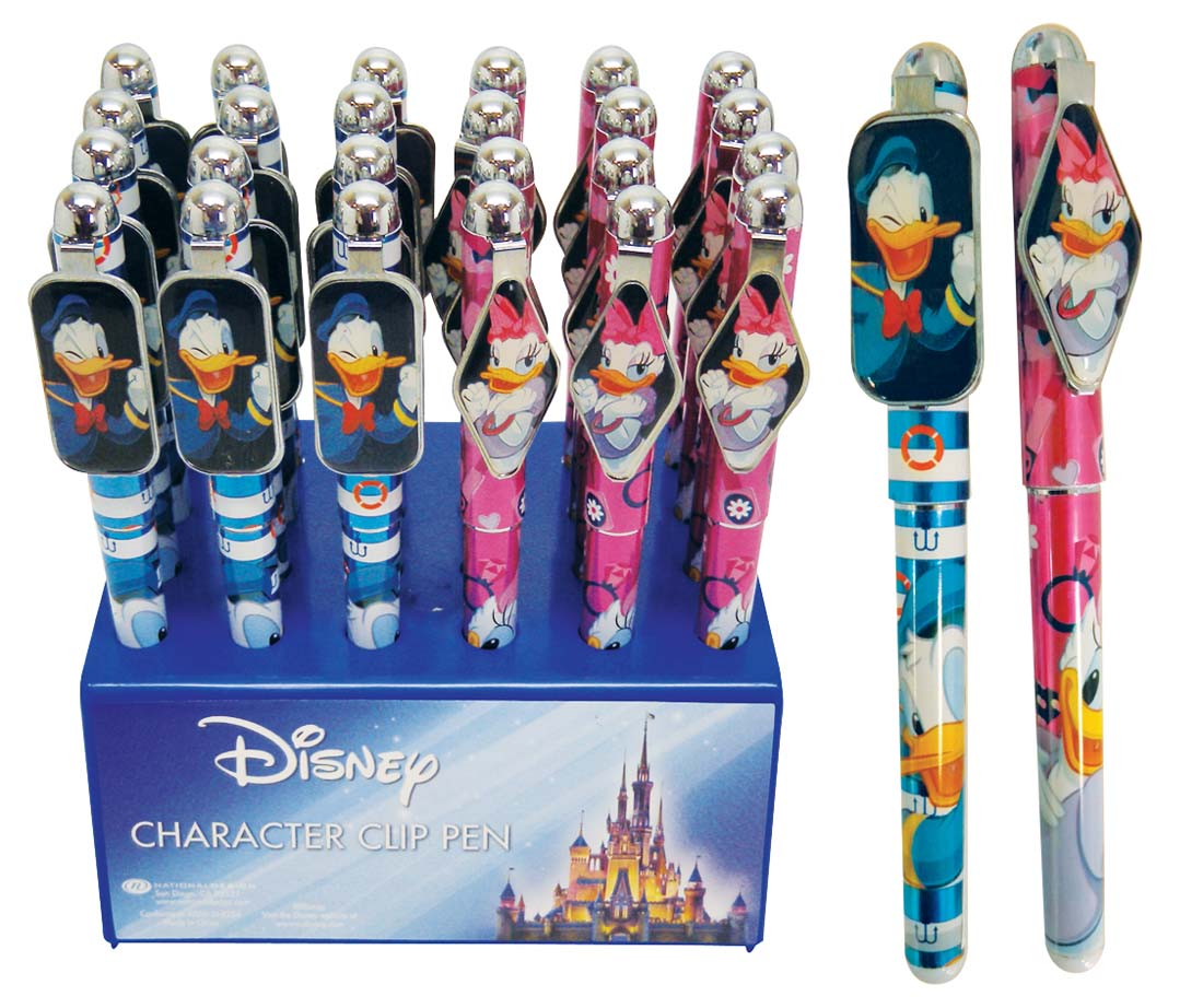 View DISNEY CLIP PEN DONALD & DAISY 24PC IN DISPLAY ASSORTED