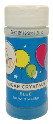 View IT'S A PARTY SUGAR CRYSTALS BLUE3 OZ