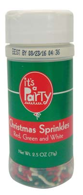 View IT'S A PARTY CHRISTMAS SPRINKLES 2.5 OZ