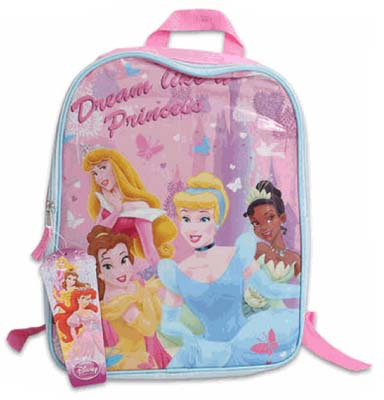 "View DISNEY BACKPACK PRINCESS 16"" X 12"" X 5"""
