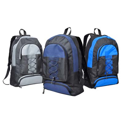 View BACKPACK 18.5 X 12.5 X 5 INCHES ASSORTED COLORS