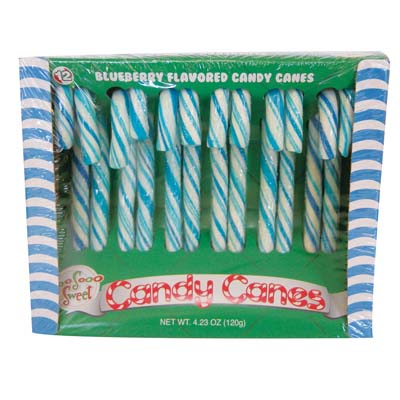 View CANDY CANE 12 COUNT 4.2 OZ BOX BLUEBERRY