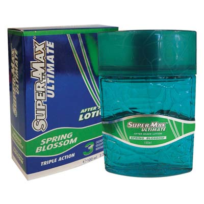 View SUPERMAX ULTIMATE AFTER SHAVE 3.3 OZ TRIPLE ACTION SPRING BLOSSOM