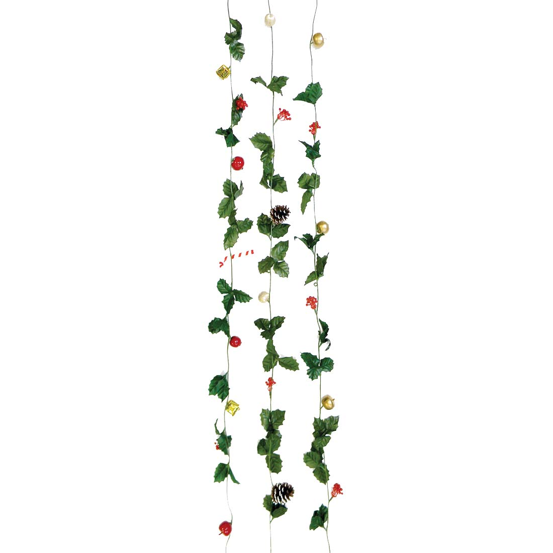 View CHRISTMAS ORNAMENT GARLAND 6 FEET ASSORTED PREPRICED $2.99