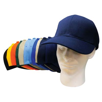 View BASEBALL CAP ASSORTED SIZES    (7 7/1/2 8) COLORS DARK GREEN LIGHT BLUE BLUE DARK BLUE ORANGE GREY BLACK AND YELLOW)