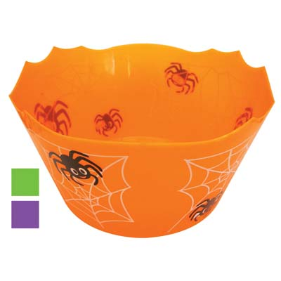 View HALLOWEEN BOWL 12 X 6 INCH ASSORTED COLORS