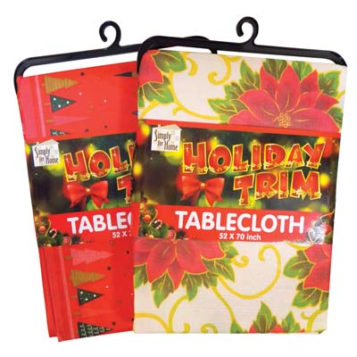 View FESTIVAL TABLE CLOTH POLYESTER 52 X 70 INCHES ASSORTED DESIGNS