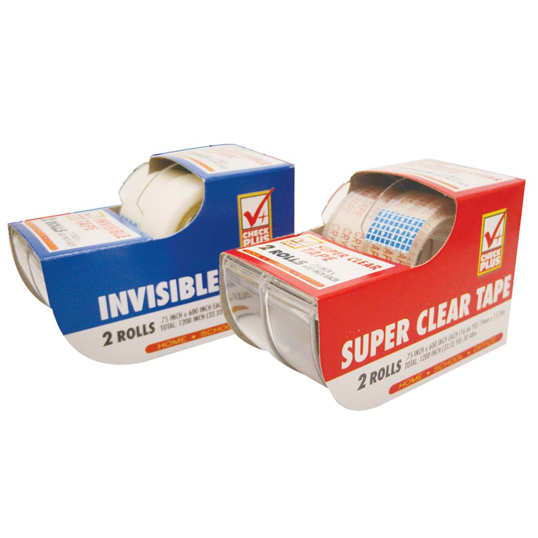 View SUPER CLEAR/INVISIBLE TAPE 2 PACK WITH DISPENSER IN DISPLAY