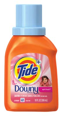 View TIDE LIQUID LAUNDRY DETERGENT 10 OZ 5 LOADS WITH DOWNY APRIL FRESH