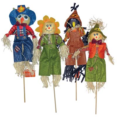 View FALL SCARECROW DECORATIONS 16 INCH ASSORTED DESIGNS PREPRICED $0.97