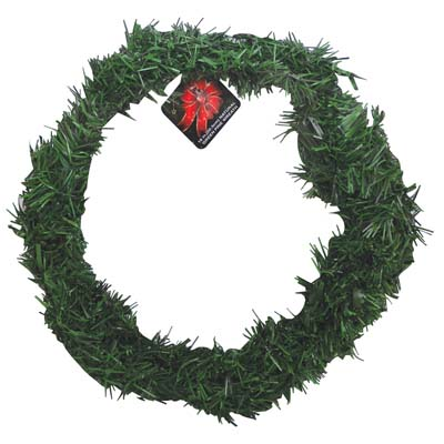 View CHRISTMAS NATURAL GREEN PINE WREATH 18 INCH