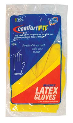 View SPIC AND SPAN LATEX GLOVE SIZE LARGE REUSABLE