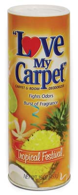 View LOVE MY CARPET CARPET & ROOM DEODORIZER 14 OZ TROPICAL FESTIVAL