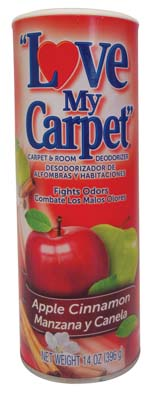 View LOVE MY CARPET & ROOM DEODORIZER 14 OZ APPLE CINNAMON