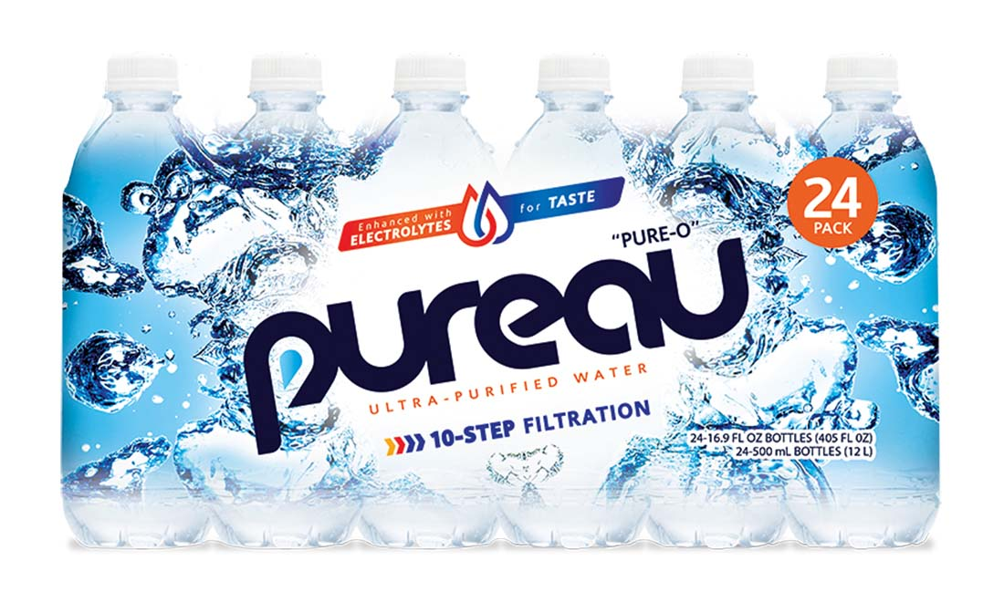 "View PUREAU WATER 16.9 oz "" 24 PER CASE"""