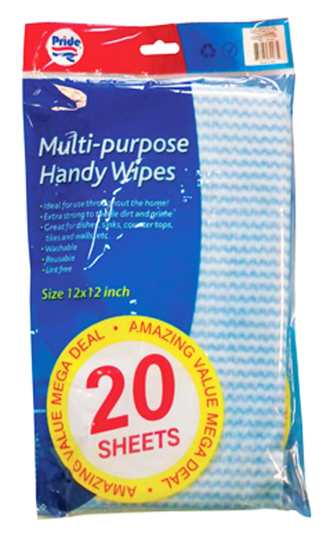 View ALL-PURPOSE HANDY WIPES 20 SHEETS 12 X 12 INCH