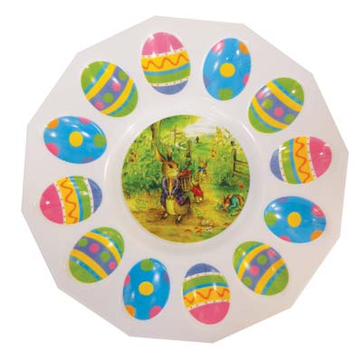View PLASTIC EASTER EGG TRAY 10 INCH ASSORTED COLORS