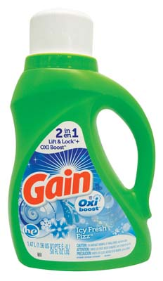 View GAIN LAUNDRY DETERGENT 50 OZ 26 LOADS ICY FRESH FIZZ WITH OXI BOOST