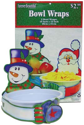 View CHRISTMAS BOWL WRAP 2 PACK 18x12 INCH