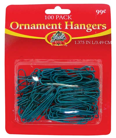 View CHRISTMAS ORNAMENT HANGERS 100 PACK PREPRICED $0.99