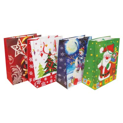 View CHRISTMAS GIFT BAG 18 X 13 X 4 INCH JUMBO