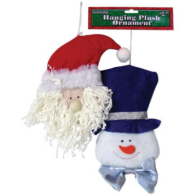 View CHRISTMAS HANGING PLUSH ORNAMENT 6X9 INCH ASSORTED STYLES PREPRICED AT $2.99