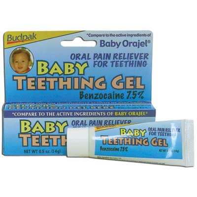 View BUDPAK BABY TEETHING GEL .5 OZ