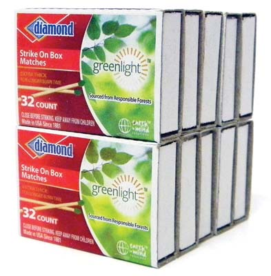 View DIAMOND STRIKE ON BOX  MATCHES 32 COUNT 10 PACK