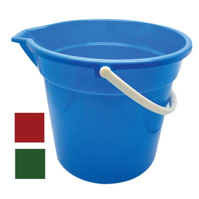 View PLASTIC BUCKET 2.65 GALLON WITH SPOUT ASSORTED COLORS