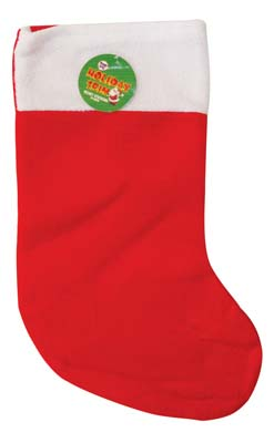 View CHRISTMAS STOCKING VELVET 19 INCHES RED