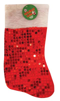 View CHRISTMAS STOCKING 17 INCHES WITH SEQUINS