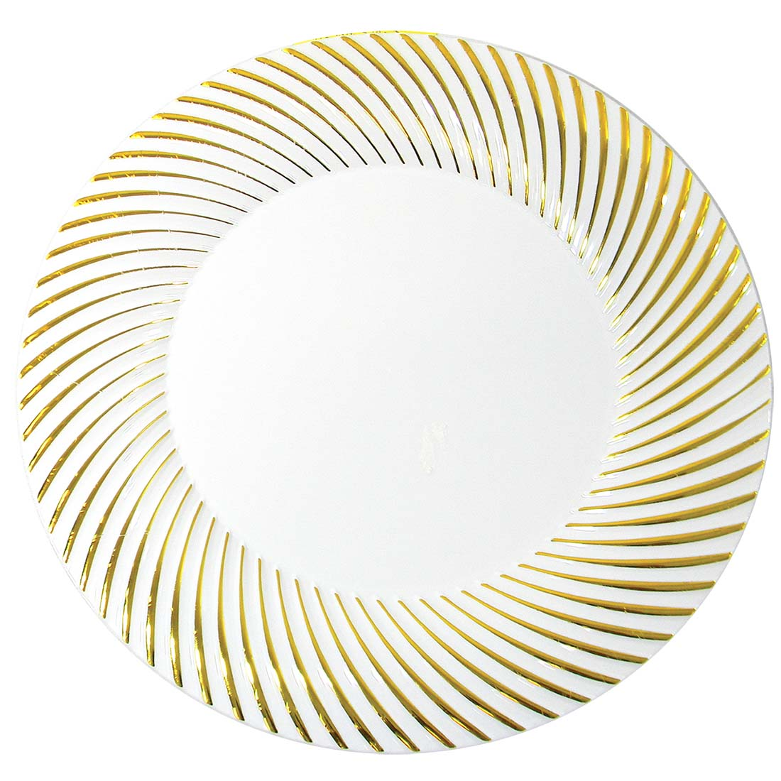 View CROWN DINNERWARE DINNER PLATE 10 PACK 10 INCH DISTINCTIVE COLLECTION GOLD