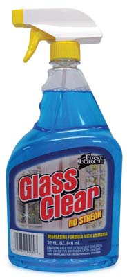 View FIRST FORCE GLASS CLEANER 32 OZ