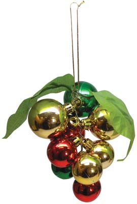 View CHRISTMAS ORNAMENT SOLID COLORED SHINY BALLS ASSORTED COLORS 3.75 X 5 INCH