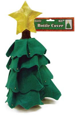 View FABRIC CHRISTMAS TREE BOTTLE COVER PREPRICED AT $2.99